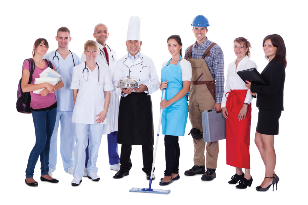 People with different careers